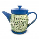 Crackle Lime Fiesta Teapot