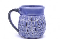 Crackle Blue Mug