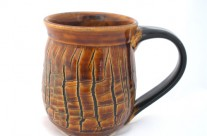 Crackle Brown Mug