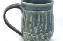 Crackle Green Mug