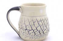 Crackle Yellow Mug