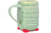 Peaceful Meadow Footed Mug