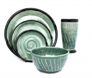 Green Crackle Dinnerware