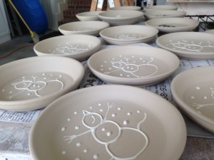 Snowman Plates to celebrate the Summer Solstice