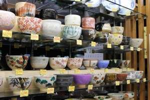 Japanese tea bowls for sale.
